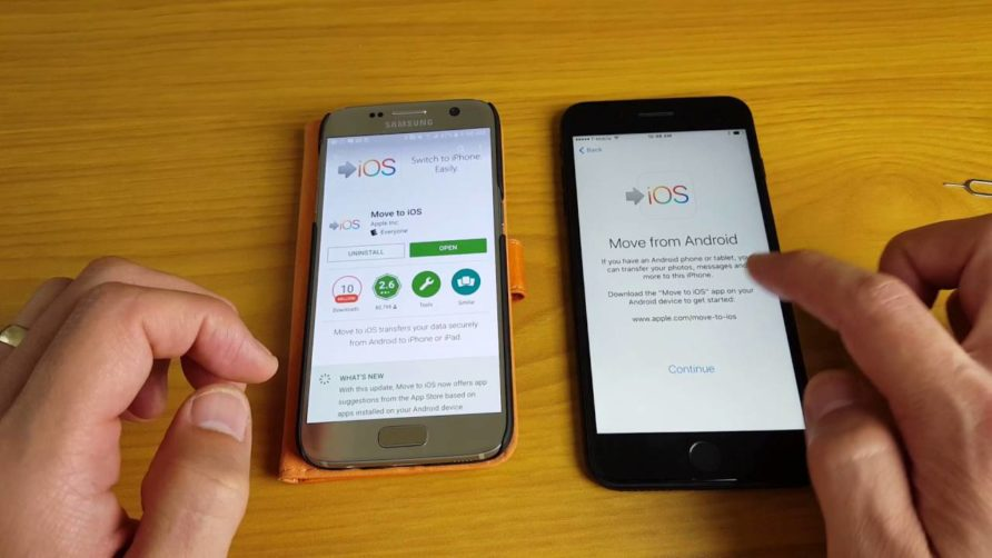Transfer data from your iPhone to your new smartphone